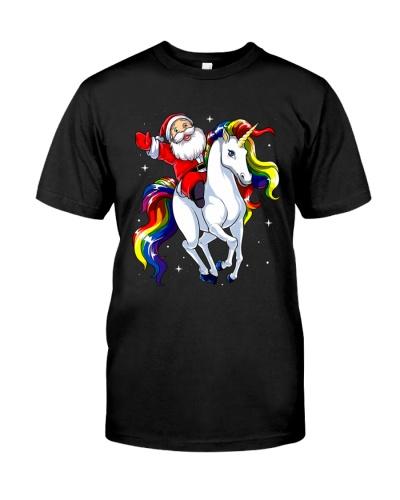 Santa Claus Riding Unicorn
