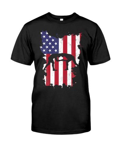 Wrestling USA Flag America 4th Of July Murica