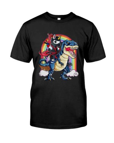 Ninja Unicorn riding Dinosaur