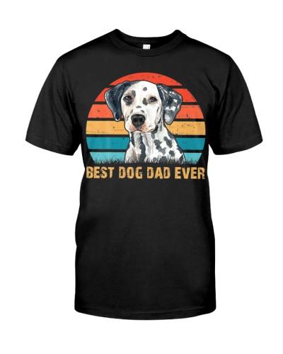 Dalmatian Lover Best Dog Dad Ever Vintage