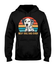 Dalmatian Lover Best Dog Dad Ever Vintage Hooded Sweatshirt thumbnail