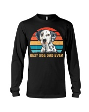 Dalmatian Lover Best Dog Dad Ever Vintage Long Sleeve Tee thumbnail