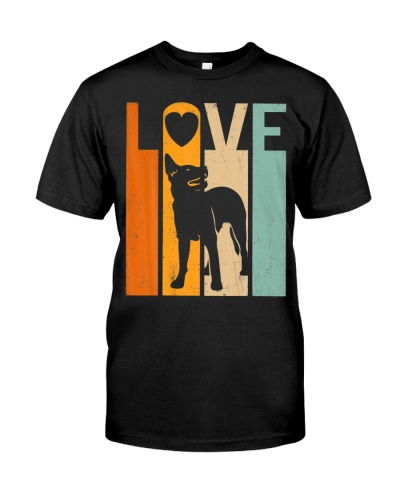Proud Love Australian Cattle Dog Vintage Dog Lover