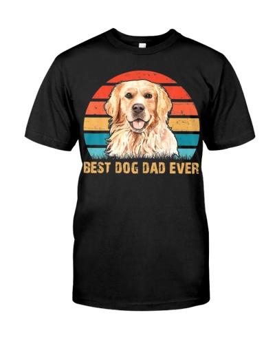 Golden Retriever Best Dog Dad Ever Vintage