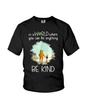 In a world where you can be anything be kind Youth T-Shirt front