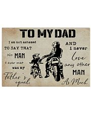 To My Dad Biker 24x16 Poster front