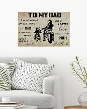To My Dad Biker 24x16 Poster poster-landscape-24x16-lifestyle-01