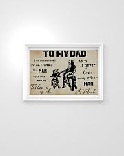 To My Dad Biker 24x16 Poster poster-landscape-24x16-lifestyle-02