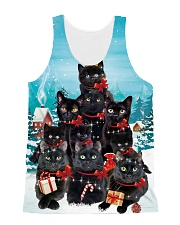 Black Cat Pine X-mas 0609 All-over Unisex Tank front