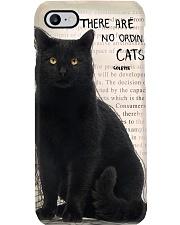 Black Cat No Ordinary  Phone Case thumbnail