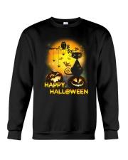 Cat and Owl Halloween Crewneck Sweatshirt front
