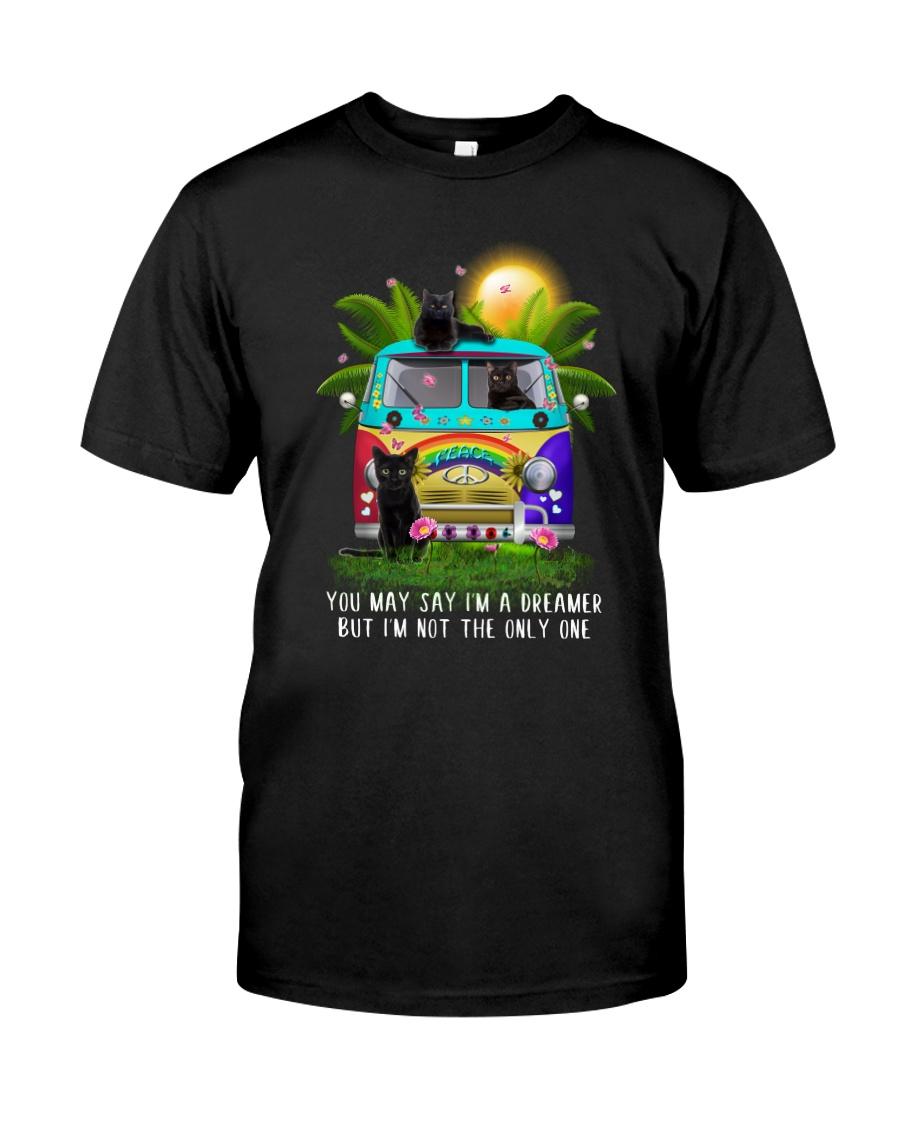 Black cat dreamer Classic T-Shirt