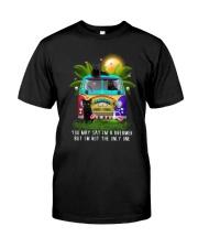 Black cat dreamer Classic T-Shirt front