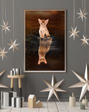 Abyssinian Cat Reflection Poster 1112 11x17 Poster lifestyle-holiday-poster-1