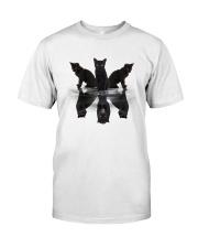 Black Cat Dreaming 3007 Classic T-Shirt front