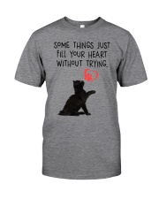 Black cat fill your heart 1211 Classic T-Shirt thumbnail