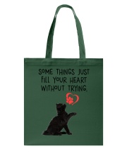 Black cat fill your heart 1211 Tote Bag thumbnail