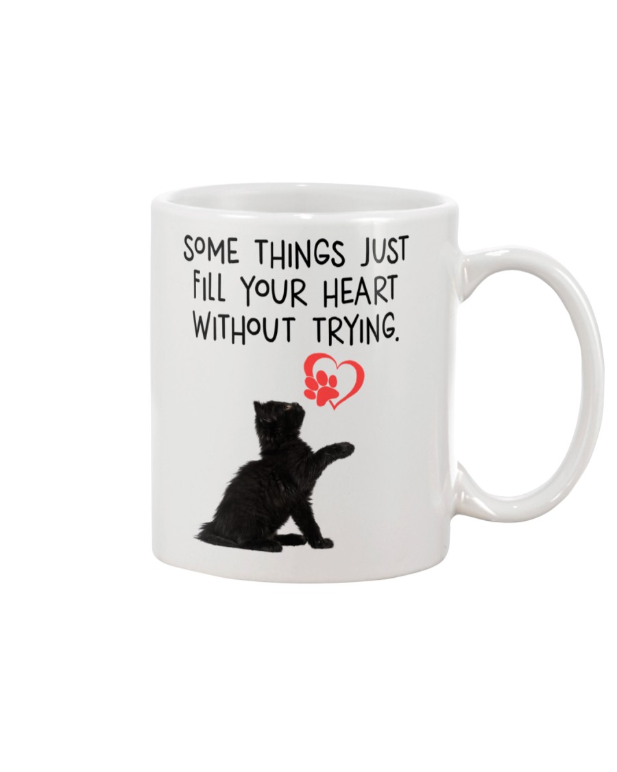 Black cat fill your heart 1211 Mug