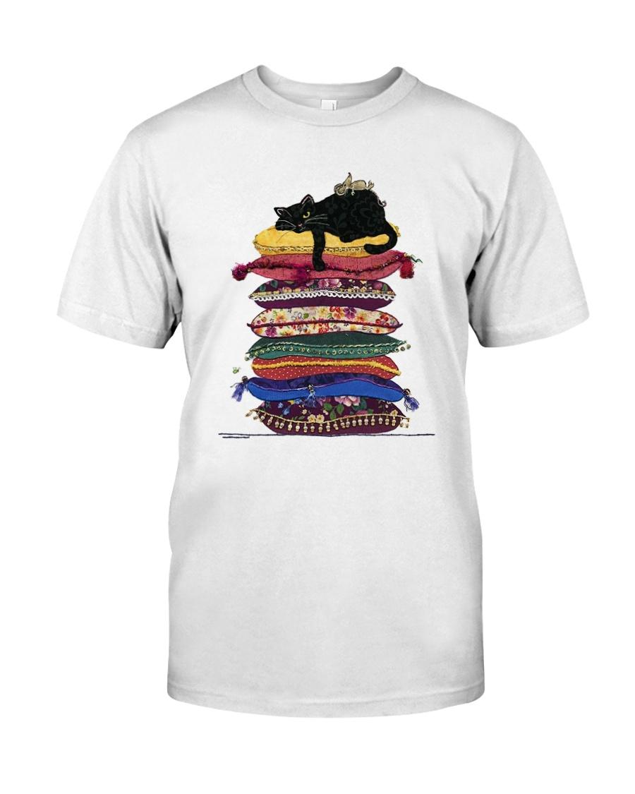 Black Cat Pillows 1009 Classic T-Shirt