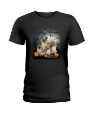 Siamese Halloween Ladies T-Shirt thumbnail