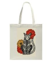 Cat Flowers Pattern Poster 0501 Tote Bag thumbnail