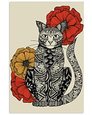 Cat Flowers Pattern Poster 0501 11x17 Poster front