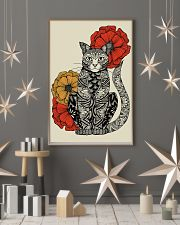 Cat Flowers Pattern Poster 0501 11x17 Poster lifestyle-holiday-poster-1