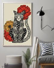 Cat Flowers Pattern Poster 0501 11x17 Poster lifestyle-poster-1