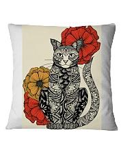 Cat Flowers Pattern Poster 0501 Square Pillowcase thumbnail