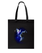 Black cat and Butterfly Tote Bag thumbnail