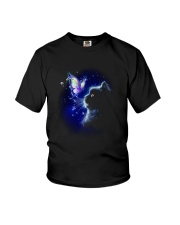Black cat and Butterfly Youth T-Shirt thumbnail