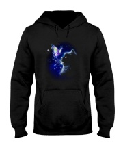 Black cat and Butterfly Hooded Sweatshirt thumbnail