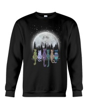 Cat Watching Moon 1309 Crewneck Sweatshirt thumbnail