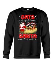 Cat Naughty list 2209 Crewneck Sweatshirt front
