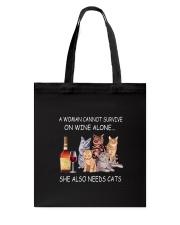 Wine Cats Tote Bag thumbnail
