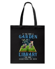 A Cat and a garden Tote Bag thumbnail