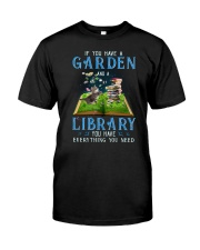 A Cat and a garden Classic T-Shirt front