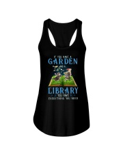 A Cat and a garden Ladies Flowy Tank thumbnail