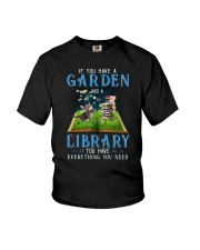 A Cat and a garden Youth T-Shirt thumbnail