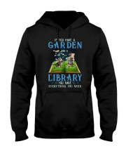 A Cat and a garden Hooded Sweatshirt tile