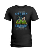 A Cat and a garden Ladies T-Shirt thumbnail