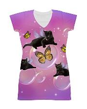 Black Cat Bubble  All-over Dress thumbnail