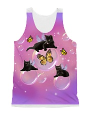 Black Cat Bubble  All-over Unisex Tank front