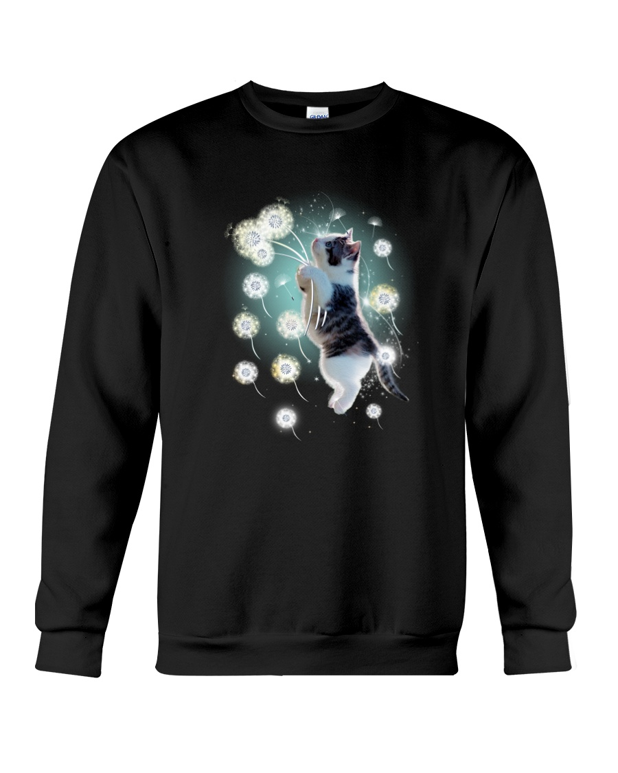 Cat dandelion Crewneck Sweatshirt