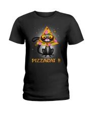 THEIA Cat Pizza 2606 Ladies T-Shirt thumbnail