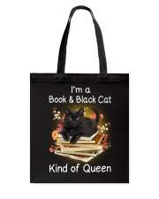 Book And Black Cat Tote Bag thumbnail