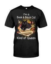 Book And Black Cat Classic T-Shirt thumbnail