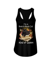 Book And Black Cat Ladies Flowy Tank thumbnail