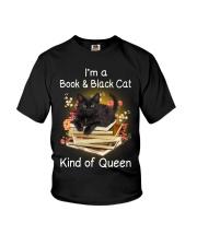 Book And Black Cat Youth T-Shirt thumbnail