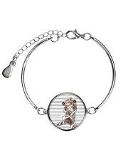 A little cat - Help me Metallic Circle Bracelet thumbnail